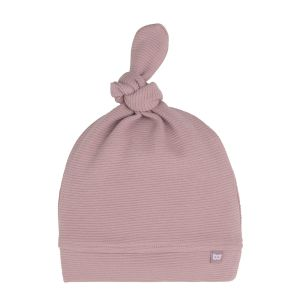 Knotted hat Pure old pink - 3-6 months