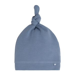 Knotted hat Pure vintage blue - 3-6 months