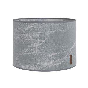 Lampshade Marble grey/silver-grey - Ø30 cm
