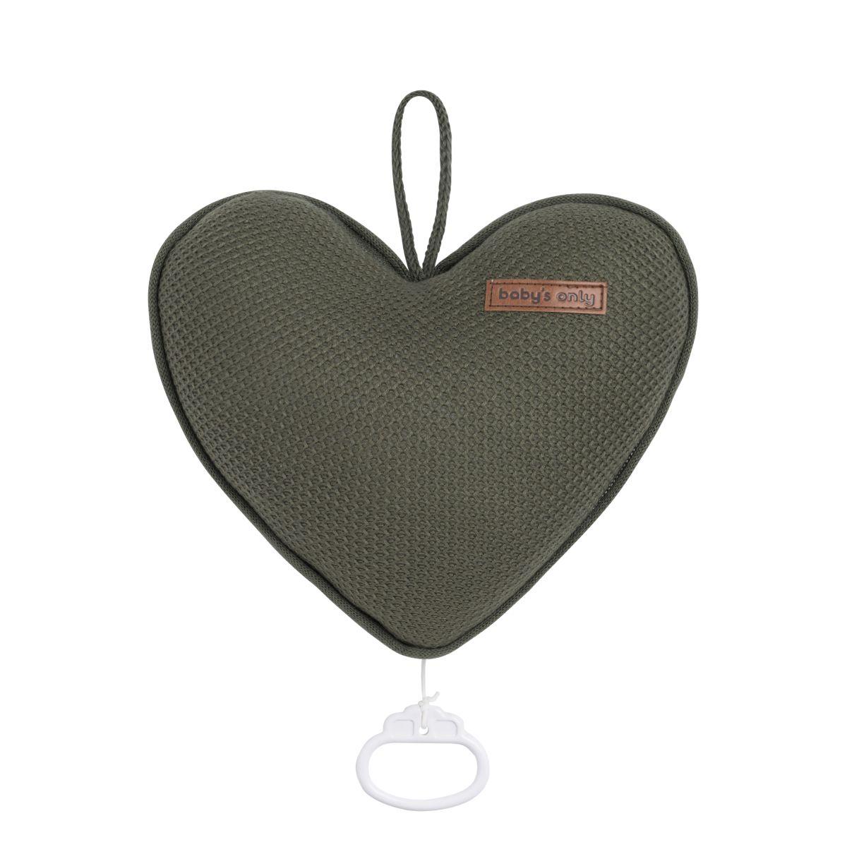 music box heart classic khaki