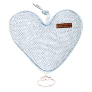 Music box heart Classic powder blue