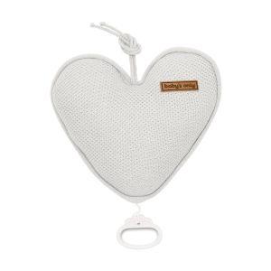 Music box heart Classic silver-grey