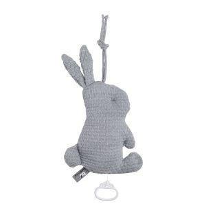 Music box rabbit Cloud grey