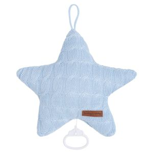 Music box Star Cable baby blue