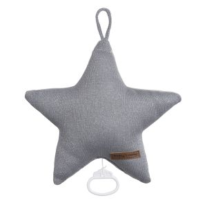 Music box star Sparkle silver-grey melee