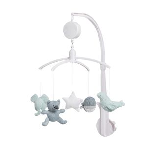 monochrome colours baby mobile White and grey elephant mobile nursery mobile