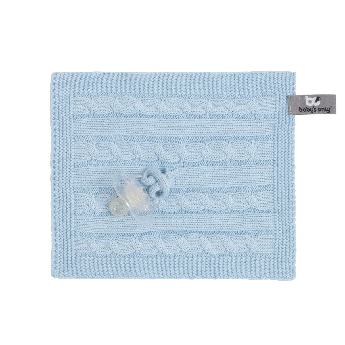 pacifier cloth cable baby blue