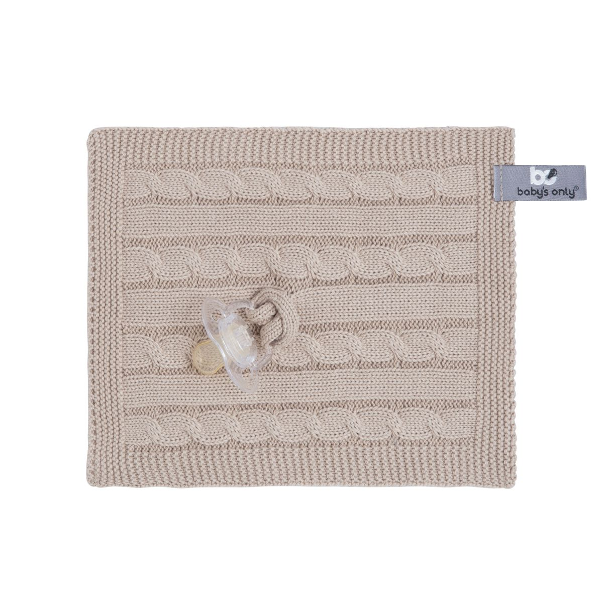 pacifier cloth cable beige