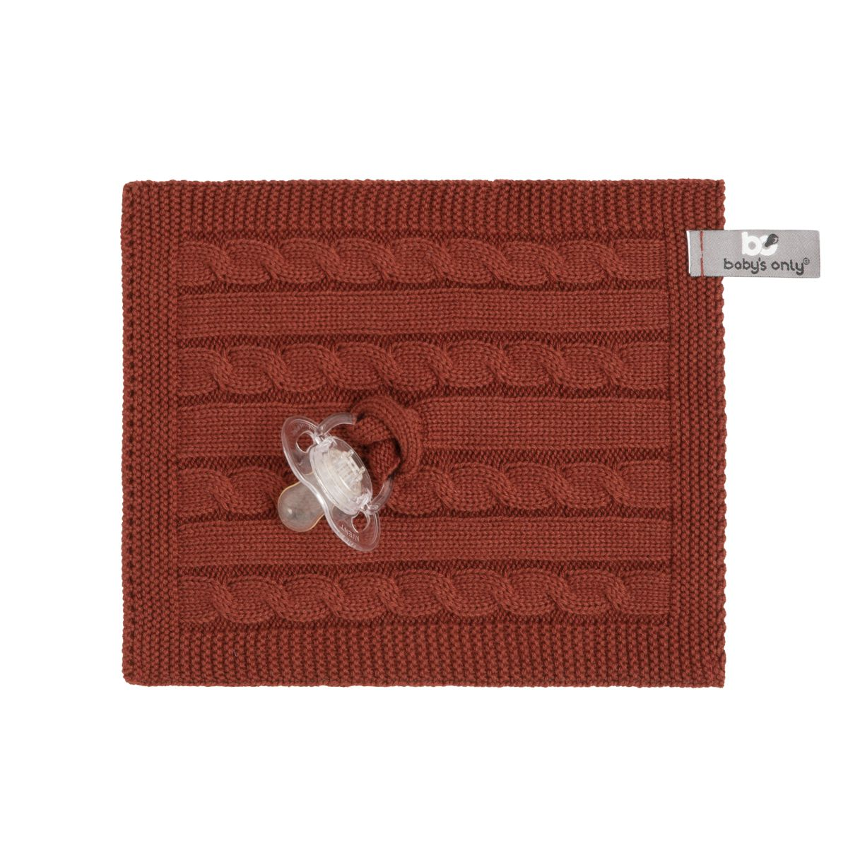 pacifier cloth cable brique