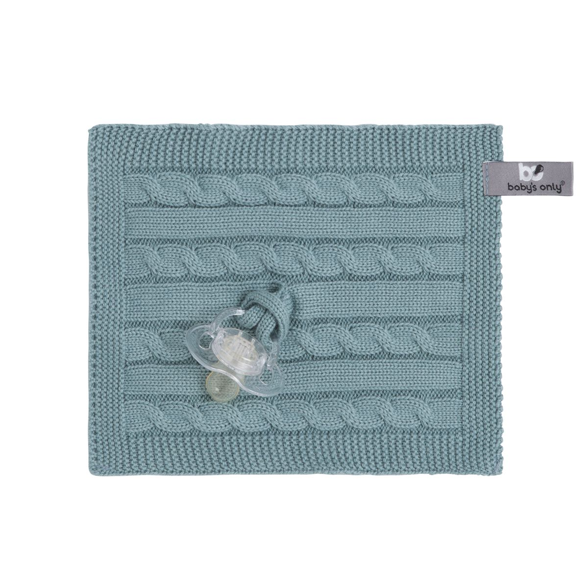 pacifier cloth cable stonegreen