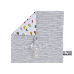 Pacifier cloth Leaf silver-grey