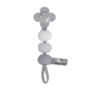 Pacifier cord silver-grey/grey/white