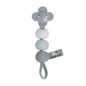 Pacifier cord stonegreen/mint/white