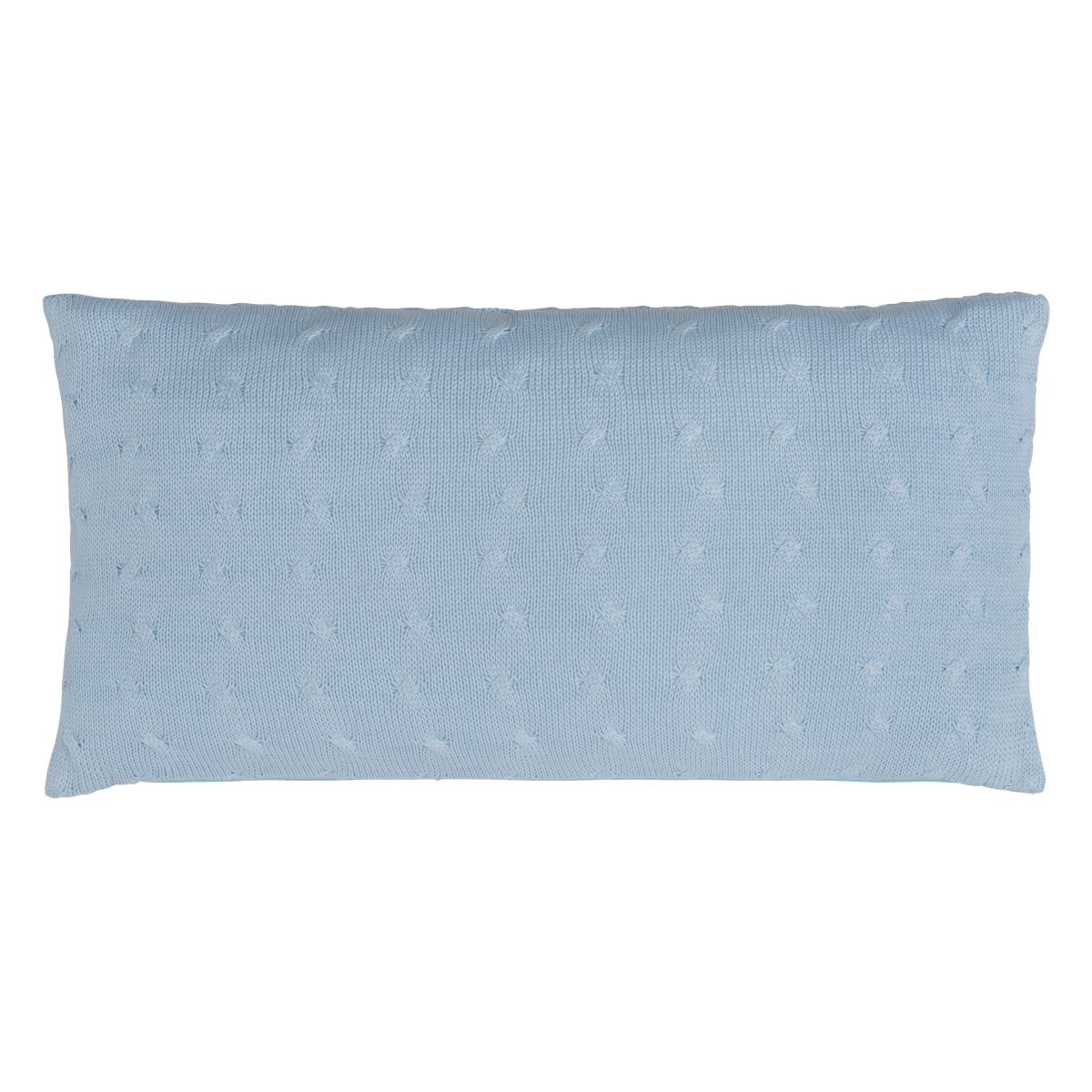 pillow cable baby blue 60x30