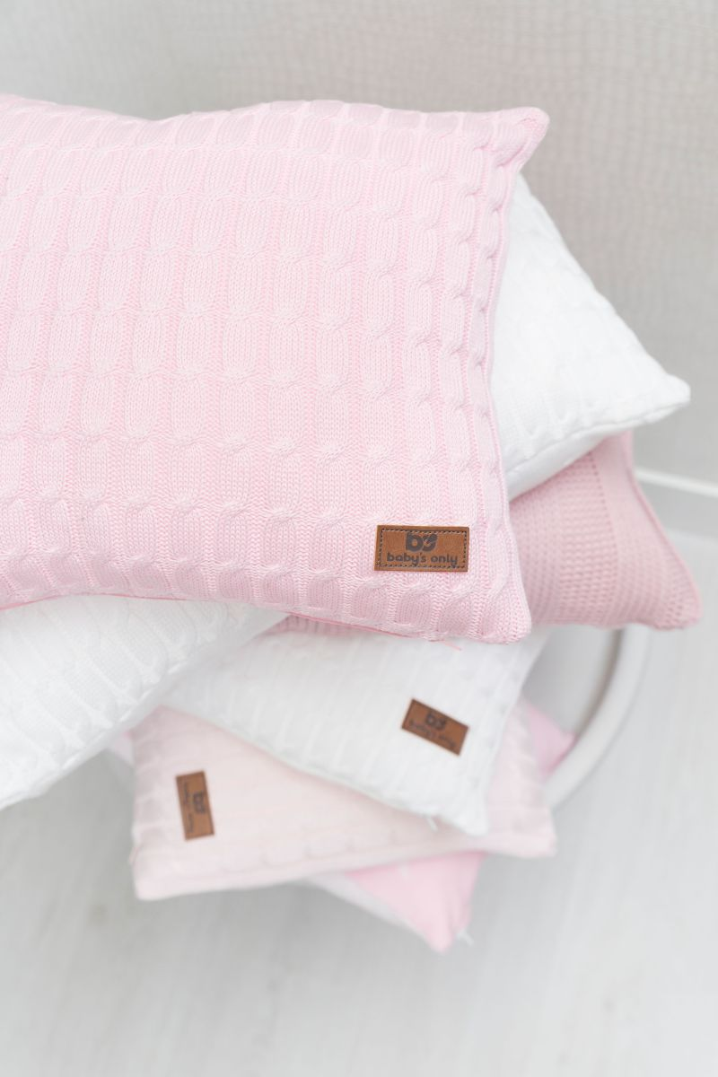 pillow cable classic pink 60x30