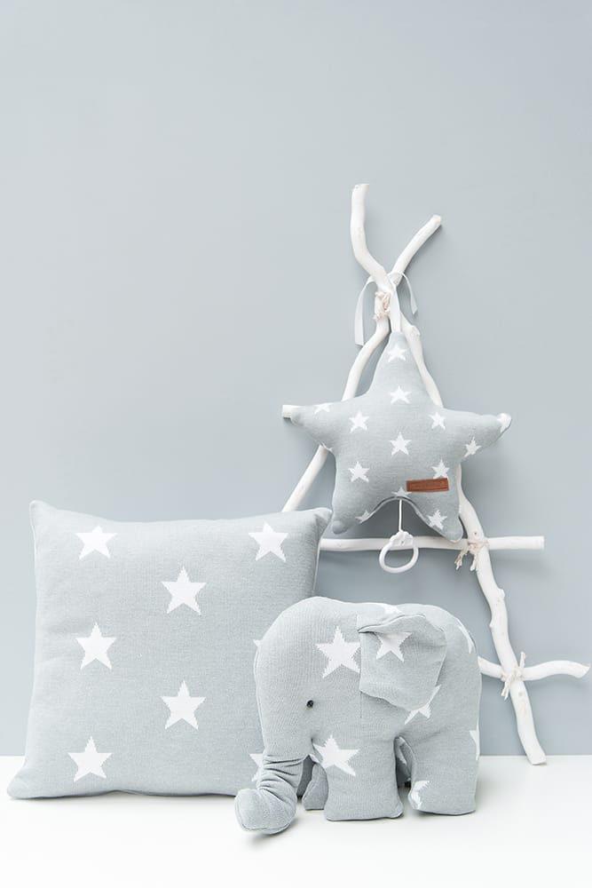 pillow star baby pinkwhite 40x40