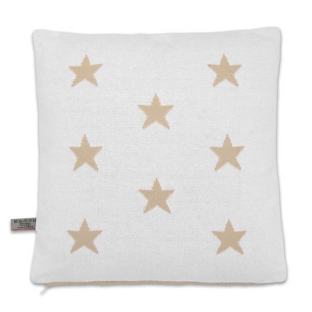 pillow star beigewhite 40x40