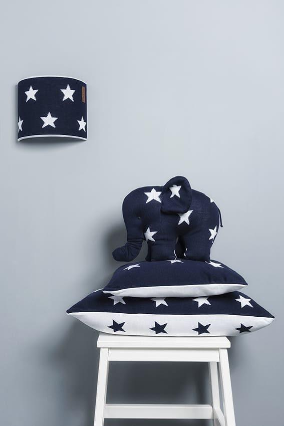 pillow star greywhite 40x40