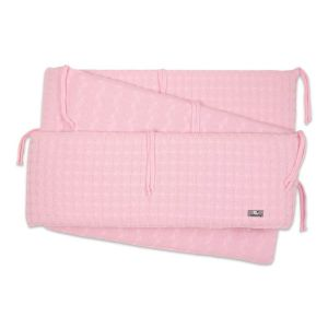 Playpen bumper Cable baby pink