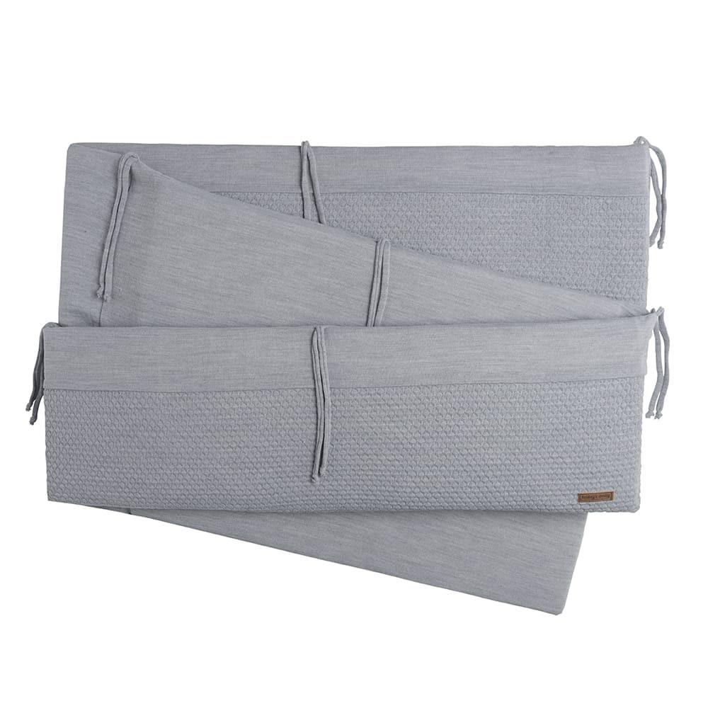 playpen bumper cloud grey