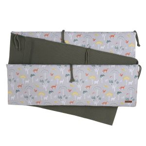 Playpen bumper Forest khaki