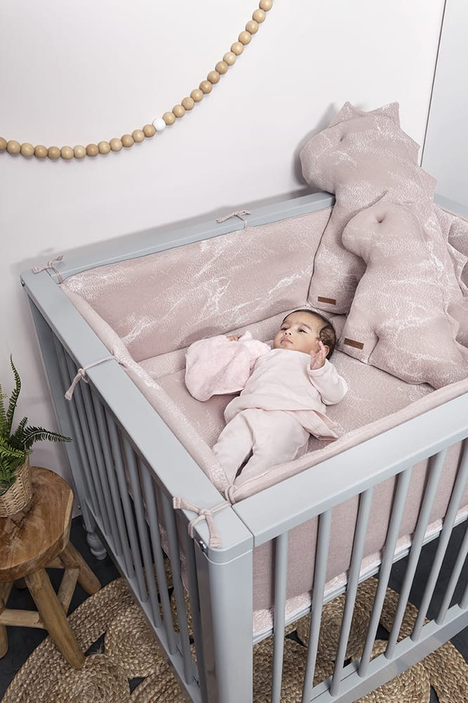 playpen bumper marble cool greylilac