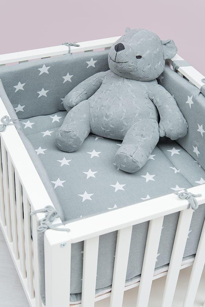 playpen bumper star baby bluegrey