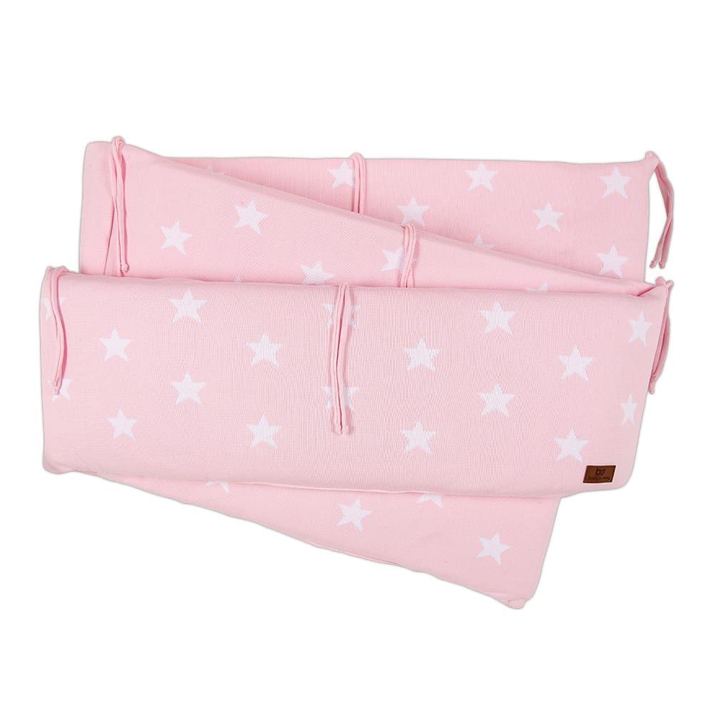 playpen bumper star baby pinkwhite