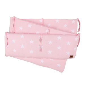 Playpen bumper Star baby pink/white