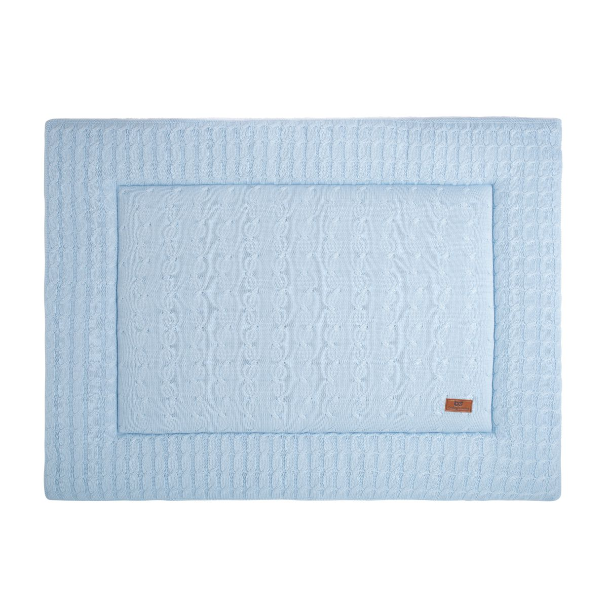 playpen mat cable baby blue 75x95