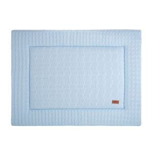 Playpen mat Cable baby blue - 75x95