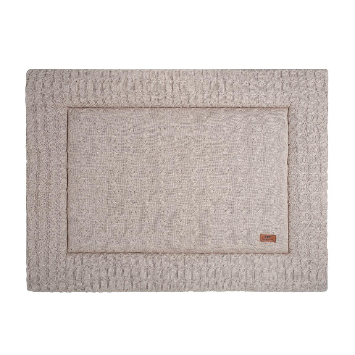 playpen mat cable beige 75x95