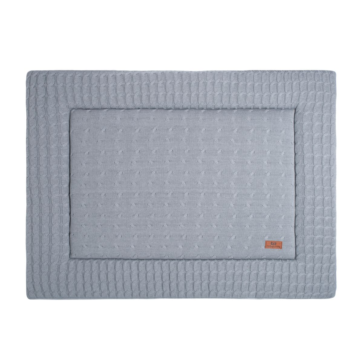 playpen mat cable grey 75x95