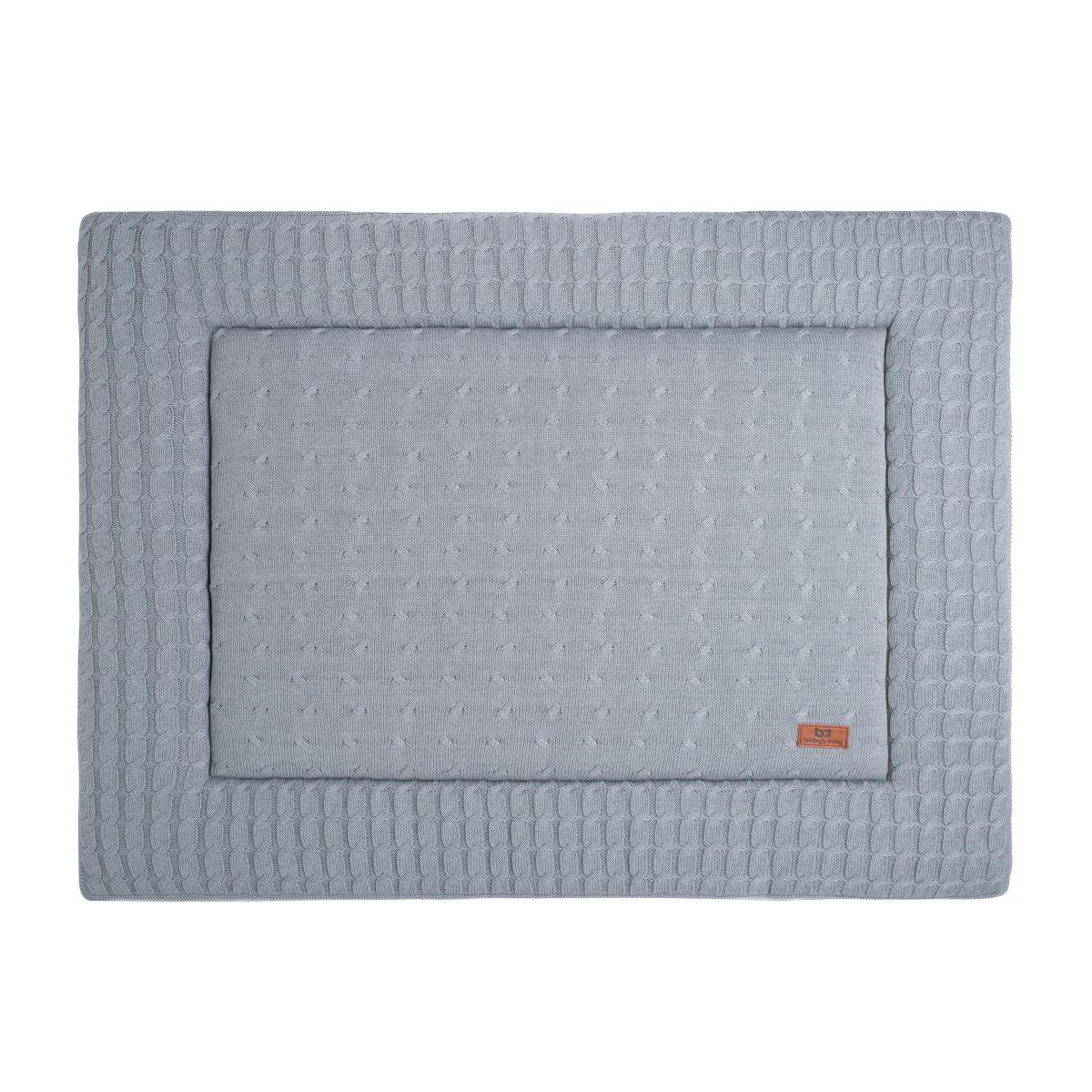 playpen mat cable grey 80x100