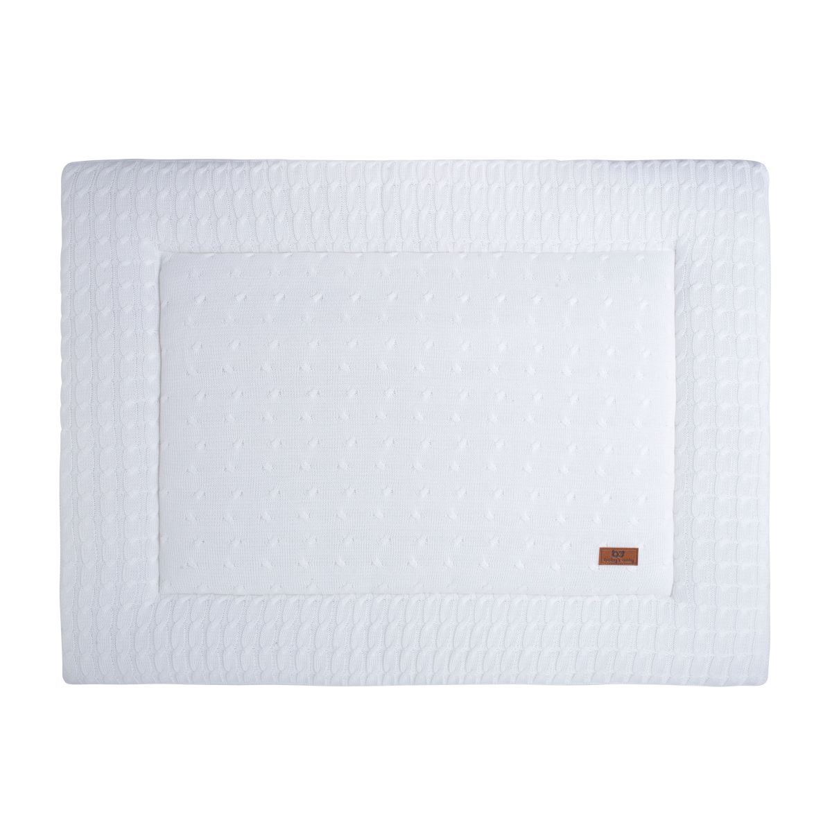 playpen mat cable white 75x95