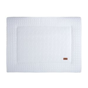 Playpen mat Cable white - 80x100