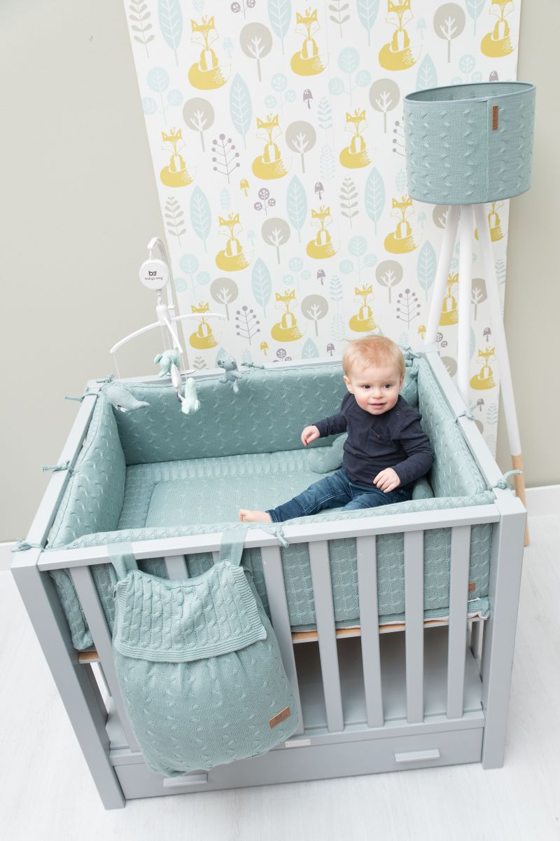 playpen mat cable white 80x100