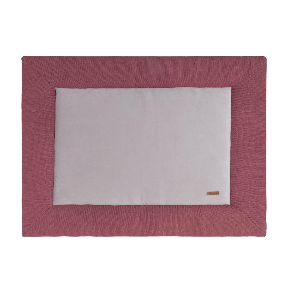 playpen mat classic stone red 75x95