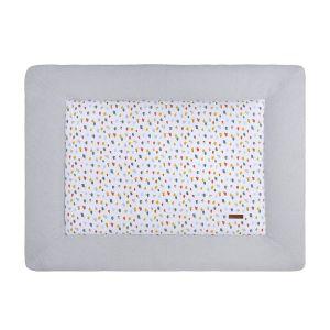 Playpen mat Leaf silver-grey - 75x95