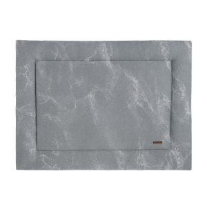 Playpen mat Marble grey/silver-grey - 75x95