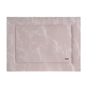 Playpen mat Marble old pink/classic pink - 75x95