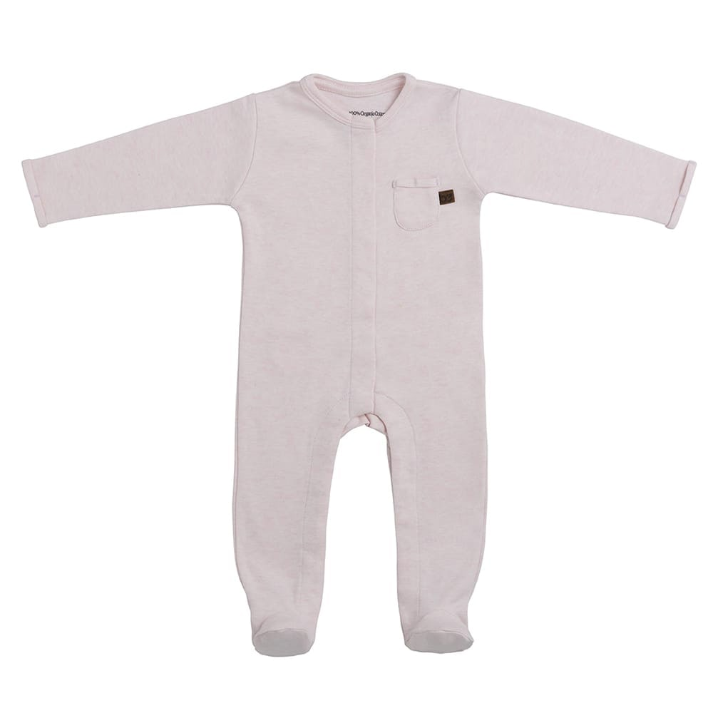 playsuit with feet melange classic pink 50