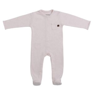 Playsuit with feet Melange classic pink - 56