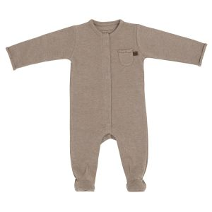 Playsuit with feet Melange clay - 56