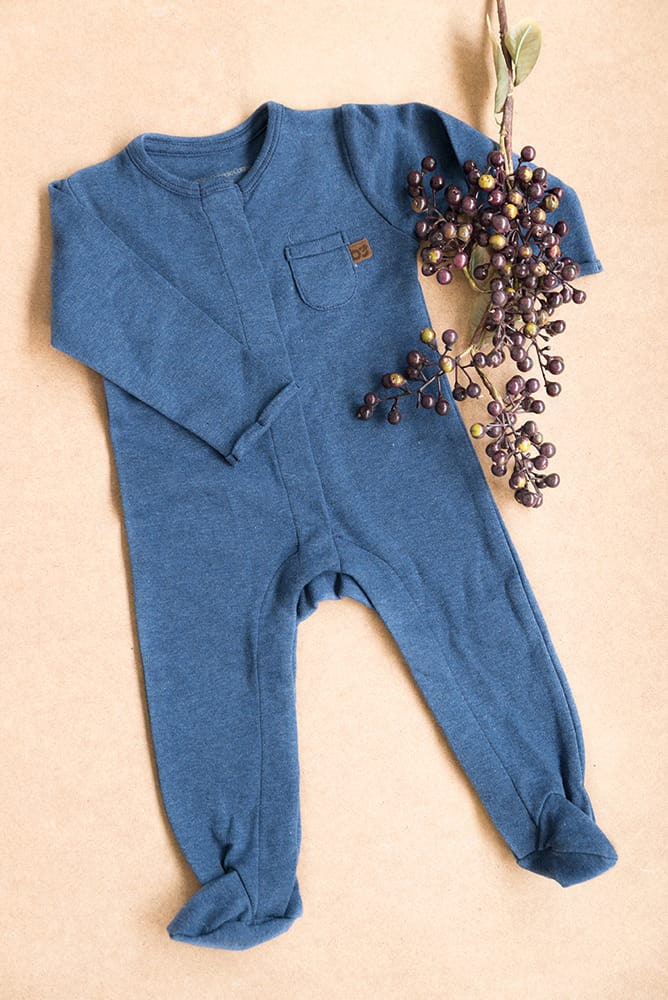 playsuit with feet melange jeans 56