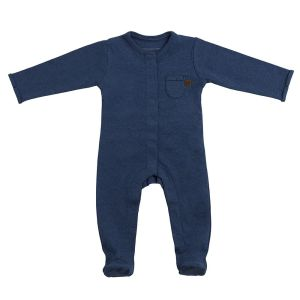 Playsuit with feet Melange jeans - 68