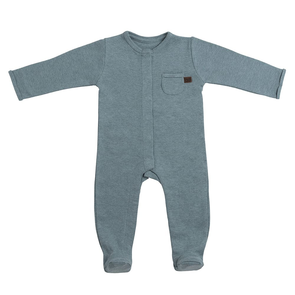 playsuit with feet melange stonegreen 50