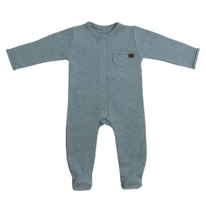 Playsuit with feet Melange stonegreen - 50