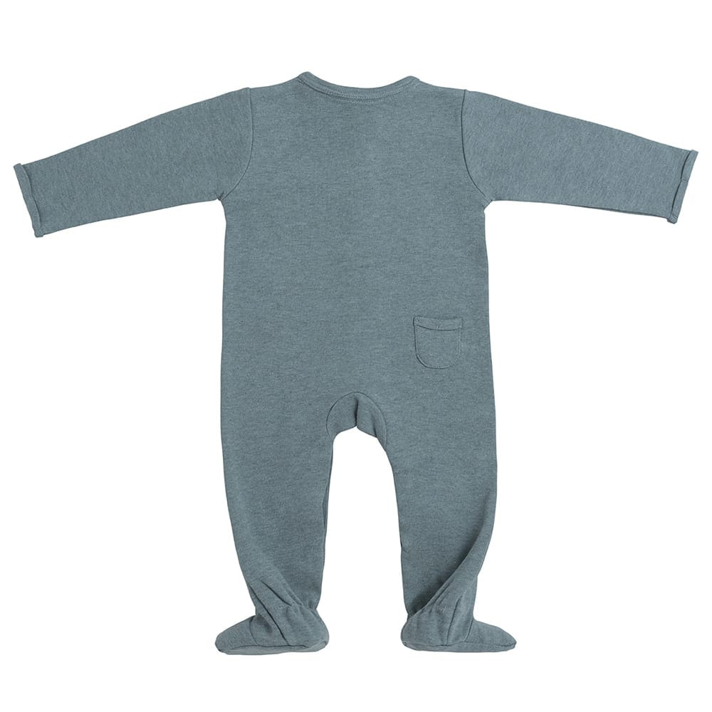 playsuit with feet melange stonegreen 62
