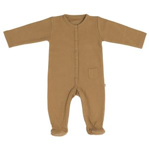 Playsuit with feet Pure caramel - 56